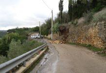 sassari crollo muro strada rizzeddu gioscari