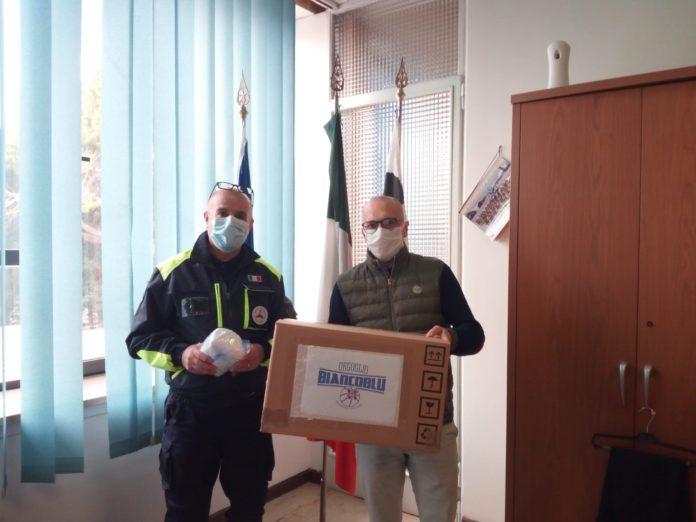 mascherine donazione tifosi dinamo sassari