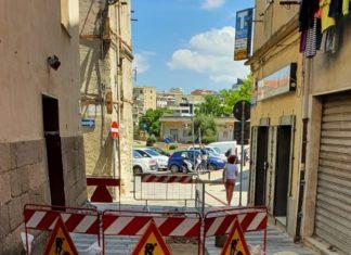 lavori centro storico sassari giugno 2020