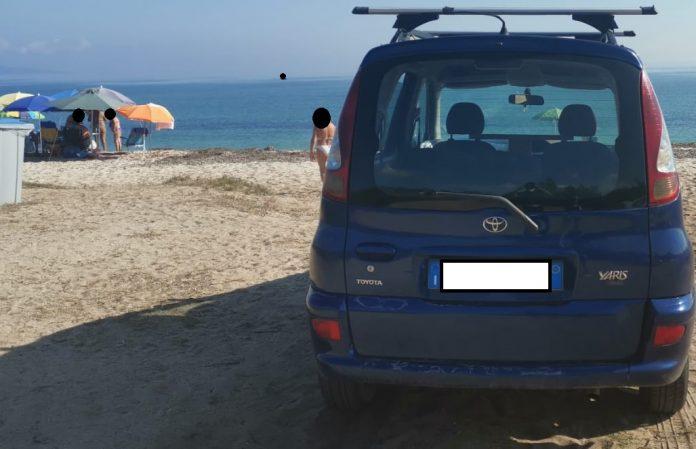 spiaggia sassari macchina