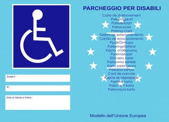 tesserino disabili